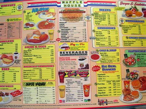 Waffle House Menu With Prices by Waffle House Menu