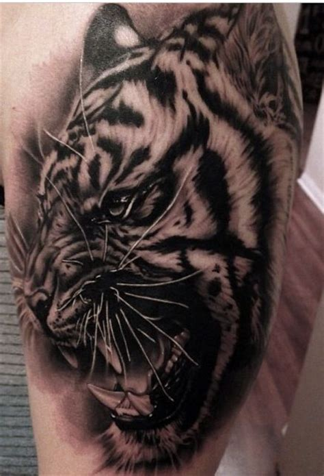 black and grey tiger tattoo black grey tiger tattoo tattoos i like pinterest