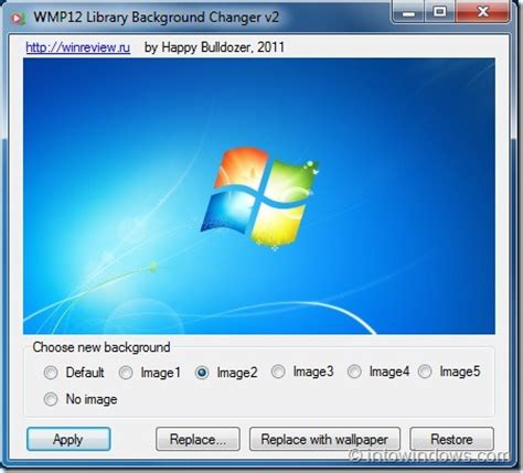 resetting windows media player library how to set a custom picture as wmp12 library background