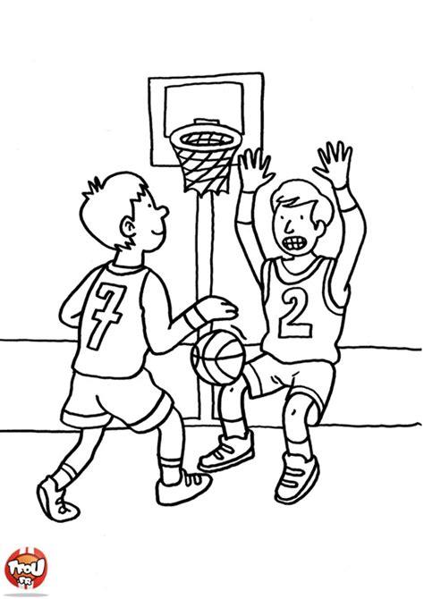 Coloriage Basketball Les Beaux Dessins De Sport 224 Dessin De Gym Facile A Faire L