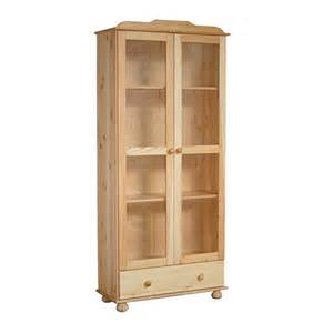 Wooden Bookshelves With Glass Doors Solid Wood Bookshelf With Glass Doors Bookcase