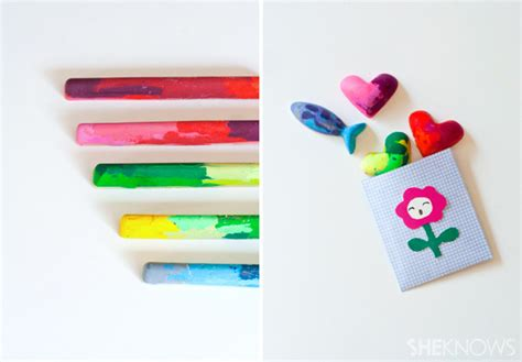 crafts cool upcycle crayons into shapes with this easy diy