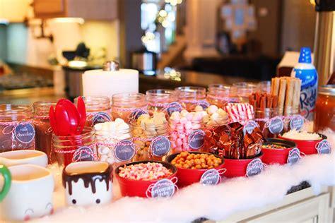 hot chocolate bar toppings hot chocolate bar holiday cookie party kevin amanda food travel blog