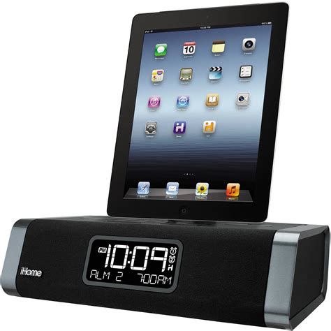 charger radio station ihome idl45 dual charging stereo fm clock radio idl45bc b h