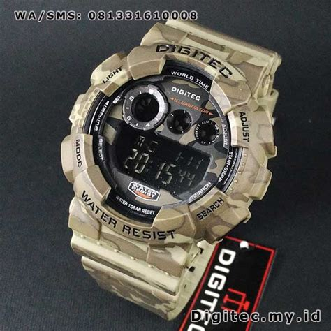 Digitec Digital Army Original digitec dg 2071t army loreng coklat muda digital jam