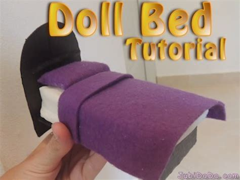 how to make a barbie bed polly doll bed barbie doll bed tutorial youtube