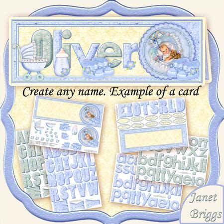 baby boy cards to make create any name baby boy card kit decoupage cup422692