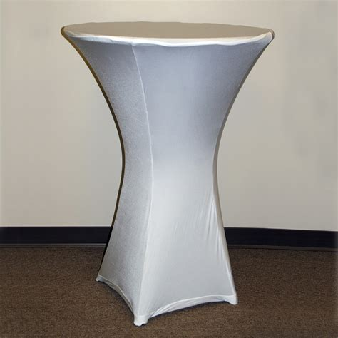 spandex cocktail table cover 30 quot x 42 quot base grand