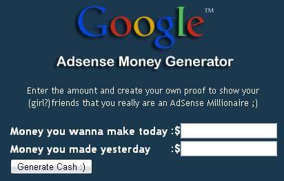 adsense money adsense money generator bewareness blogger world