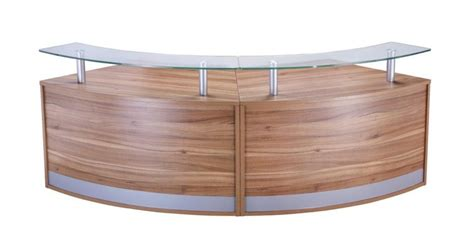 pb desk curved reception desk deluxe pb config 6 reality