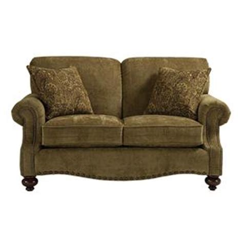 bassett club room sofa bassett club room stationary sofa with nail head trim h