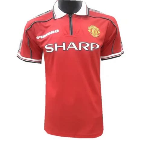 Retro Jersey Manchester United Ucl 99 98 99 manchester united home retro jersey shirt cheap