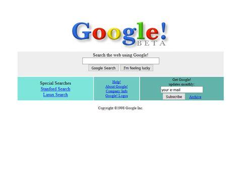 google design for web google 1998 timeline web design museum