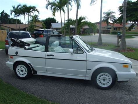 old car owners manuals 1990 volkswagen type 2 security system buy used 1990 volkswagen cabriolet convertible 2 door 1 8l cheap reliable classic car in miami