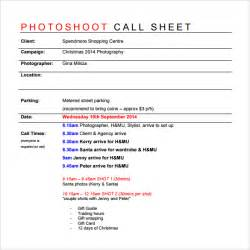 call sheet template 8 sle call sheet templates free sle exle format