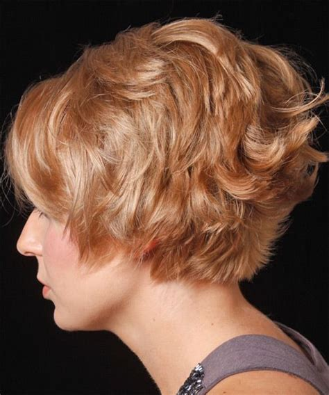 stacked layered hair styles with short bangs short stacked curly wavy hair would just have to