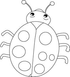 ladybug coloring page ladybug smiles stomach cries coloring pages coccinelles