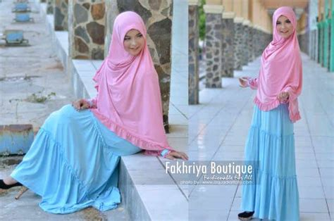 Grateful Tunik Mozza Biru Muda marjuwwa by fakhriya pink dw baju muslim gamis modern