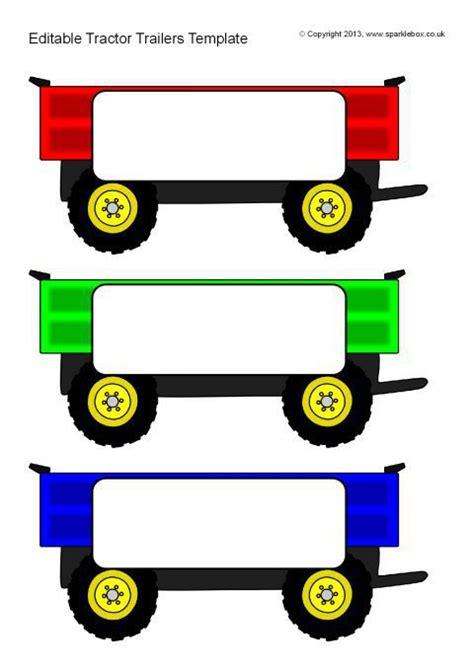 Editable Tractor Trailer Templates Sb9578 Sparklebox Trailer Templates Free