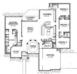 Open Layout Floor Plans Four Bedroom New American Hwbdo60629 New American