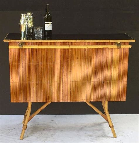 bamboo bar top french bamboo bar for serving with black lacquered top for