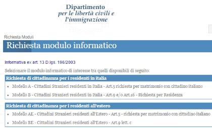 ministero interno cittadinanza registrazione il portale dell immigrazione e degli immigrati in italia