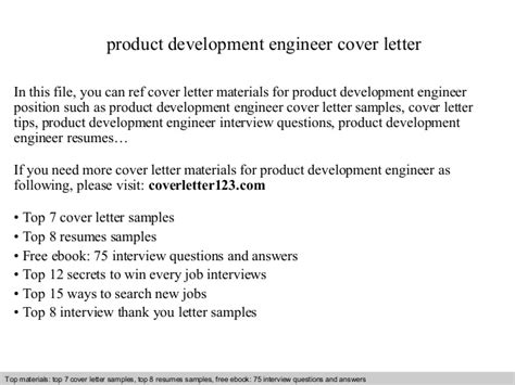 Sle Letter For Product Presentation Product Development Engineer Cover Letter