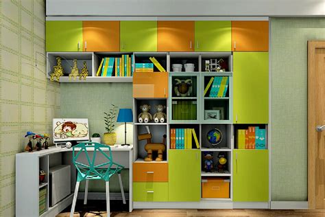 wall cabinets for bedroom green and orange wall cabinet for children s bedroom