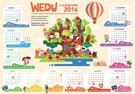 calendario mercado famila 2016 programa educativo wedu para divertirse en el cole o en