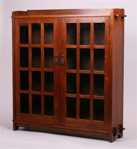 stickley bookcase for sale l jg stickley 2 door bookcase california historical design