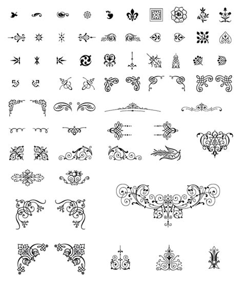 Wedding Font Ornament by Roundup Of Free Vintage Ornament Floral Vectors