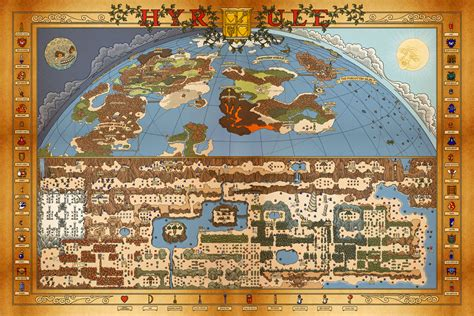 printable zelda map nes legend of zelda printable map