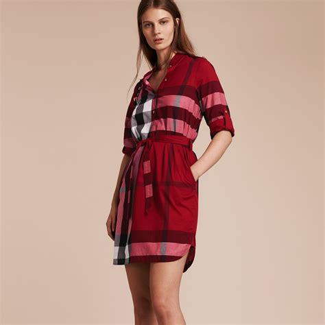 Tara Checker Shirt Dress check cotton shirt dress parade burberry