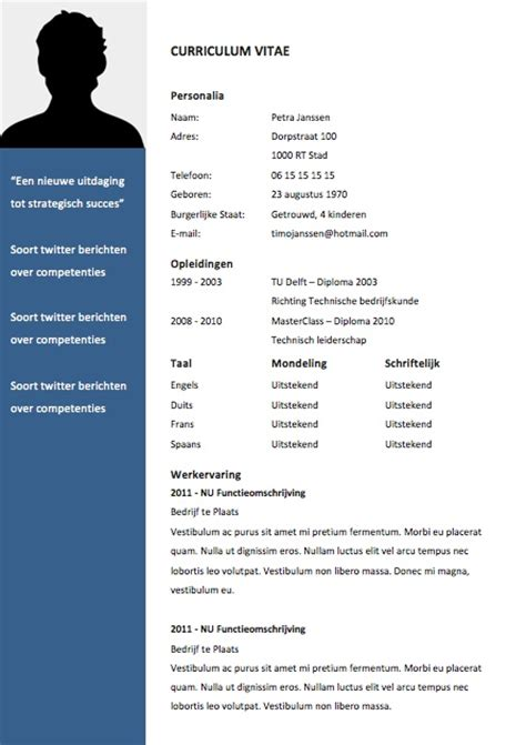 Curriculum Vitae Sjabloon Word 2003 25 Beste Idee 235 N Cv Sjablonen Op Cv Sjabloon Creative Cv Template En Cv Lay Out
