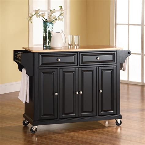 black kitchen island table crosley furniture kf3000 kitchen island cart atg stores