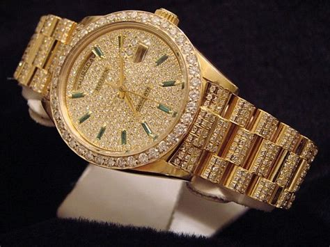 details about mens rolex 18k gold day date president
