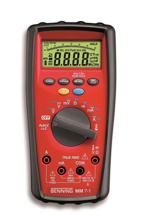 Mm 2 Digital Multimeter With True Rms benning mm 7 1 industrial true rms cat iv digital multimeter