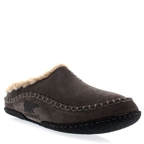 winter house slippers mens sorel falcon ridge casual fur suede winter shoes house slippers all sizes ebay
