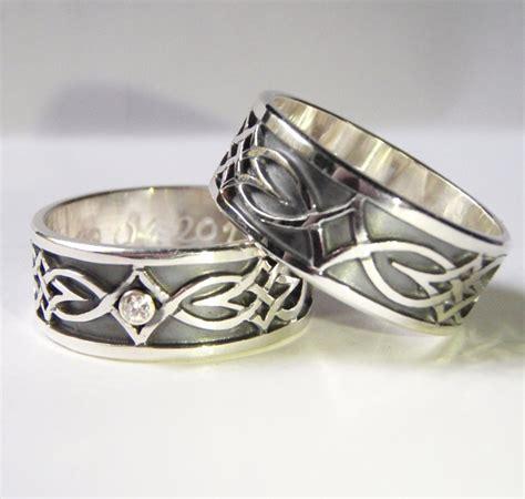 Eheringe Aus Silber by Handgearbeitete Keltische Eheringe Aus Silber Mit Runen
