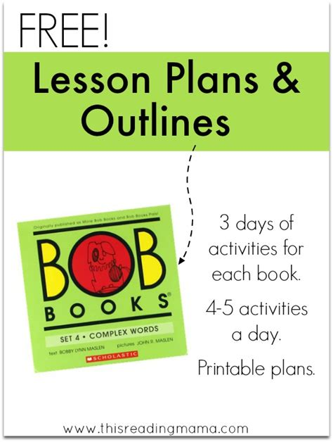 lesson plans for picture books lesson plans and outlines for bob books set 4