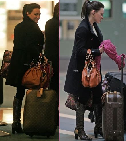 Other Designers Hilary Duff With Designer Travel Bags hilary duff with designer travel bags