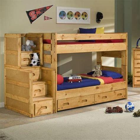 trendwood bunkhouse wrangler staircase bunk