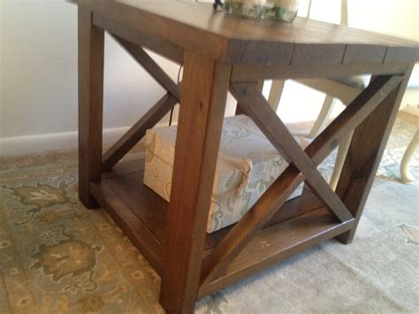 Rustic End Tables White Rustic X End Tables Diy Projects