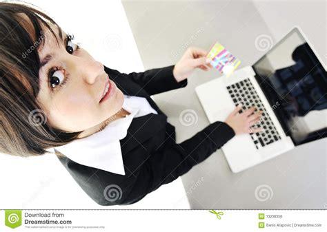 Women Make Money Online - business woman making online money transaction royalty free stock image image 13238356