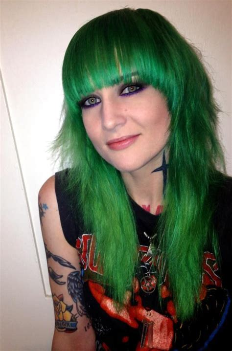 17 best images about green 17 best images about manic panic green envy on the march pompado of green envy hair