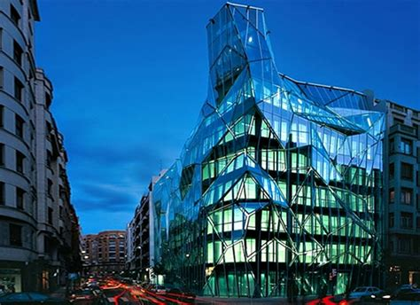Origami In City - origami glass building engineering library news