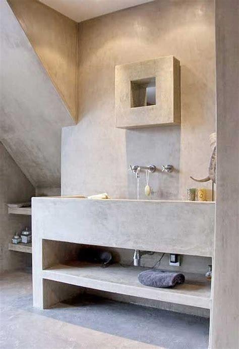 bagni in microcemento lavabo bagno in muratura rivestito in microcemento idee