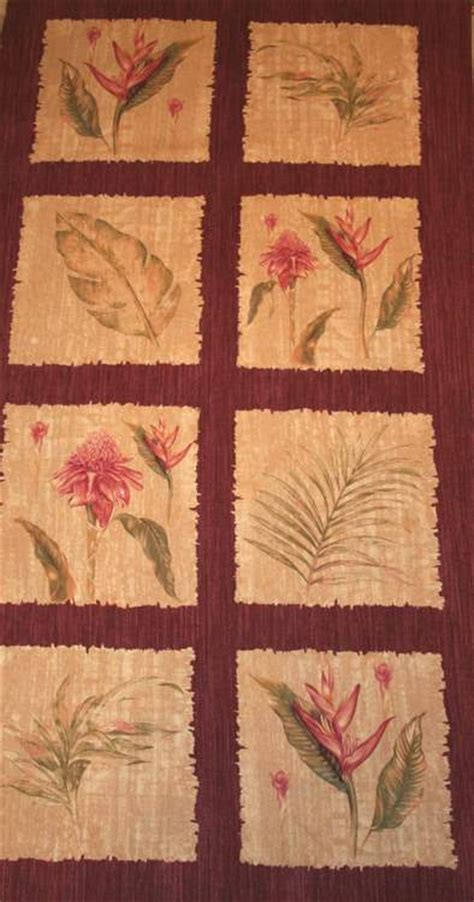 Quilting Fabric Panels by Sale Botanical Panels Quilt Fabric Ebay