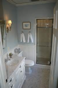 Bathroom Vanity Chair Rail Chrome And Glass Shower Door Transitional Bathroom