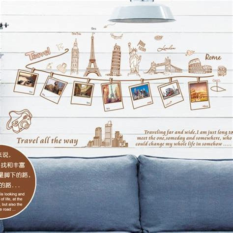 Wallpaper Sticker Travel removable large wallpaper world map wall sticker home decoration travel photo frame wall decals